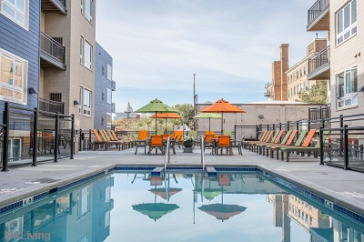 Veritas Village - First Floor Sundeck with Sparkling Pool