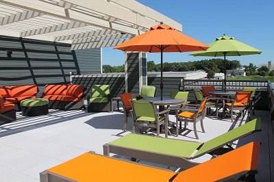 Hidden Creek Residences - Seating on Rooftop Patio #1