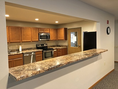 Sugar Creek Senior Apartments - Community Room Kitchen