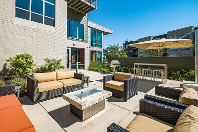 The Reserve at High Point - Private Outdoor Terrace with Fireplace and Grilling Station